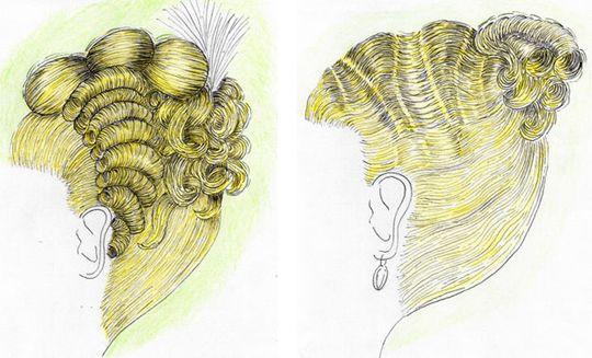 26) Les coiffures plates étaient destinées aux très jeunes filles, les plus hautes étaient réservées aux femmes mariées.