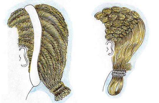 La coiffure sous les Sévères L\u0027impératrice Julia Domna épouse de Septime  Sévère, présente une coiffure avec une longue raie médiane, des crans  gonflants