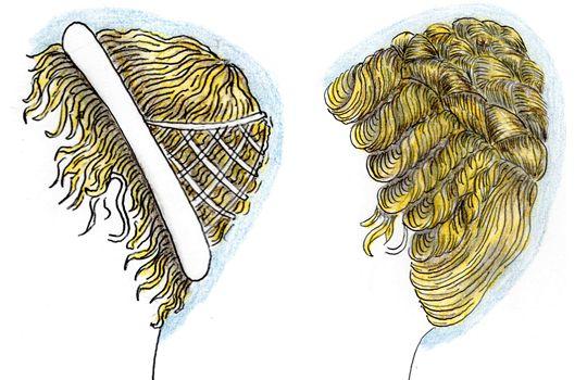 D\u0027après Juvénal, l\u0027impératrice Messaline se couvrait la tête d\u0027une perruque  de cheveux blonds lorsqu\u0027elle allait se prostituer.